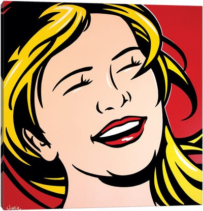 Laughing Girl Canvas Art Print