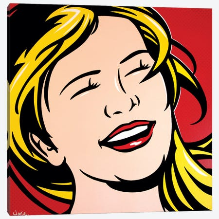 Laughing Girl 3-Piece Canvas #JLE51} by James Lee Canvas Art