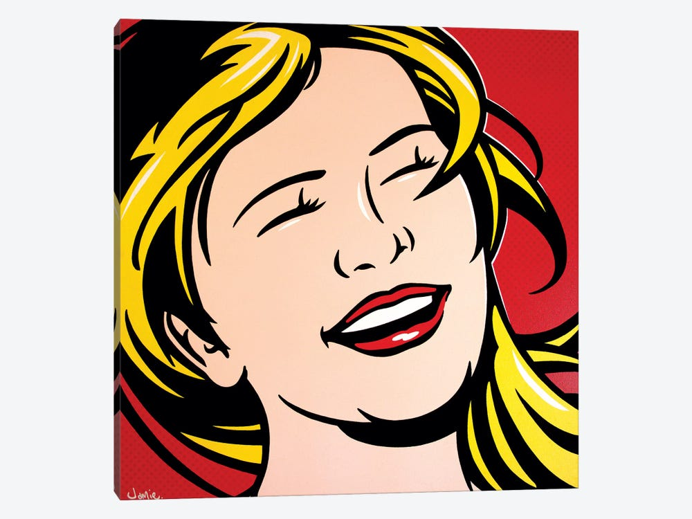 Laughing Girl by James Lee 1-piece Canvas Wall Art