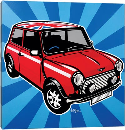 Mini Cooper Canvas Art Print