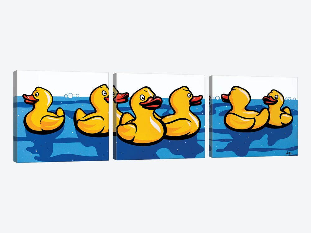 Rubber Duckies by James Lee 3-piece Canvas Art Print