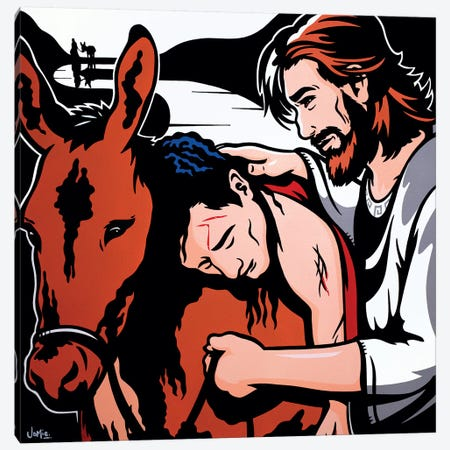 The Good Samaritan Canvas Print #JLE60} by James Lee Art Print