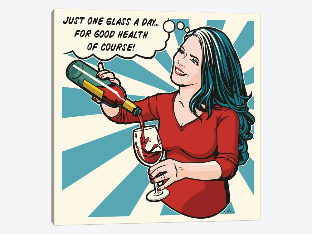 One Glass A Day by James Lee 1-piece Art Print