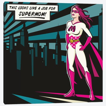 Supermom Canvas Print #JLE69} by James Lee Canvas Print