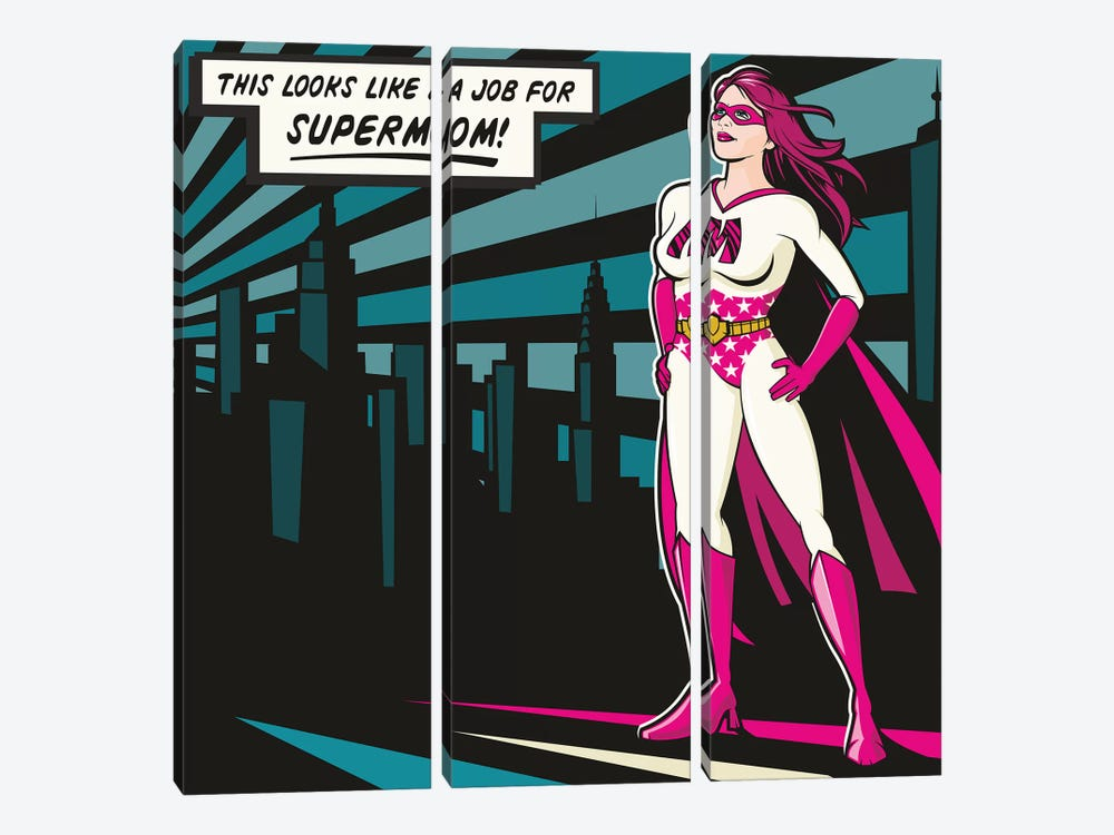 Supermom by James Lee 3-piece Canvas Print