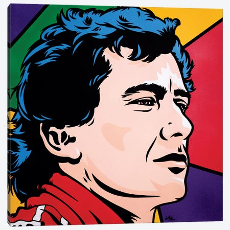 Ayrton Senna Canvas Print #JLE6} by James Lee Canvas Art Print