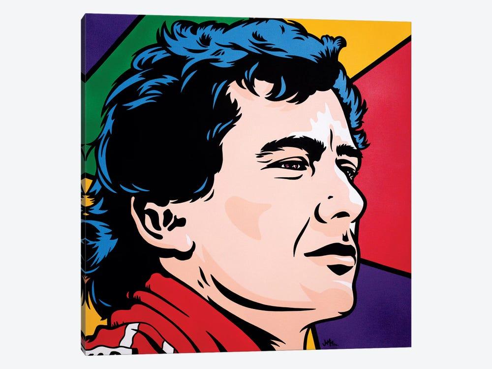 Ayrton Senna by James Lee 1-piece Canvas Print