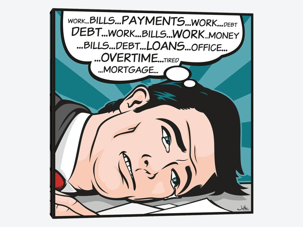 Bills...Payments by James Lee 1-piece Canvas Print
