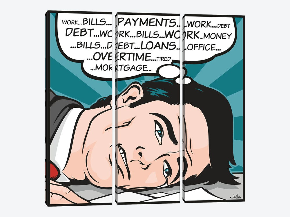 Bills...Payments by James Lee 3-piece Canvas Print