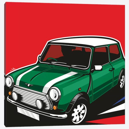 Mini Cooper II Canvas Print #JLE71} by James Lee Canvas Art