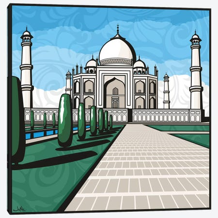 Taj Mahal Canvas Print #JLE73} by James Lee Canvas Artwork