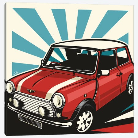 Mini Cooper III Canvas Print #JLE75} by James Lee Canvas Print
