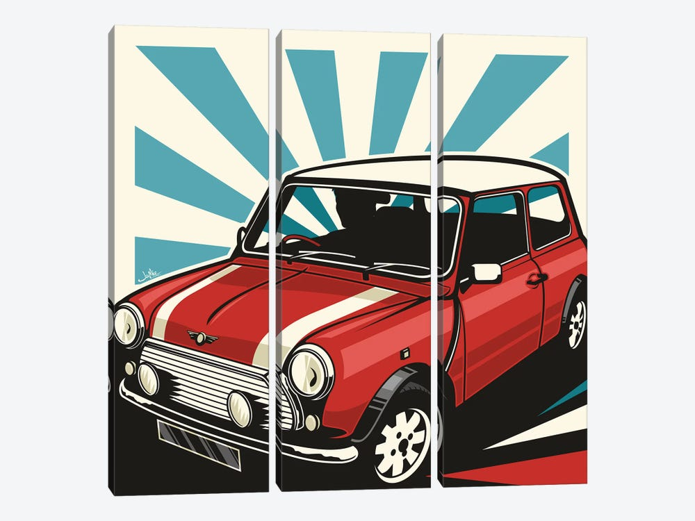 Mini Cooper III by James Lee 3-piece Canvas Artwork