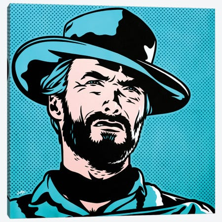 Clint Eastwood Canvas Print #JLE7} by James Lee Art Print
