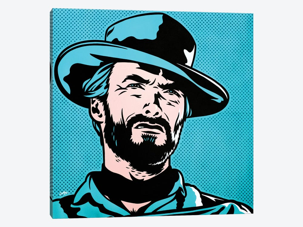 Clint Eastwood by James Lee 1-piece Canvas Art