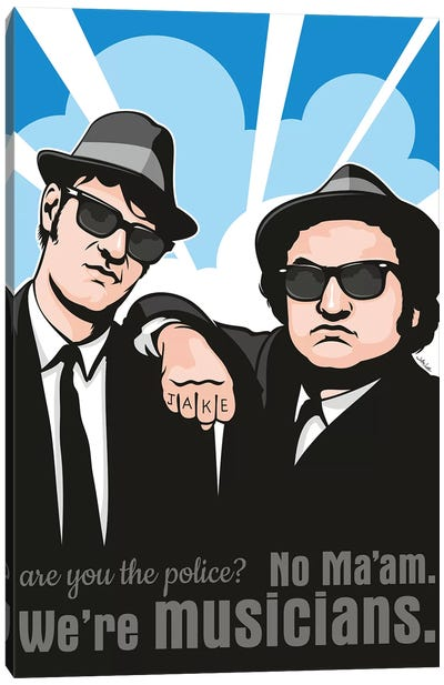 No Maam, We're Musicians Canvas Art Print