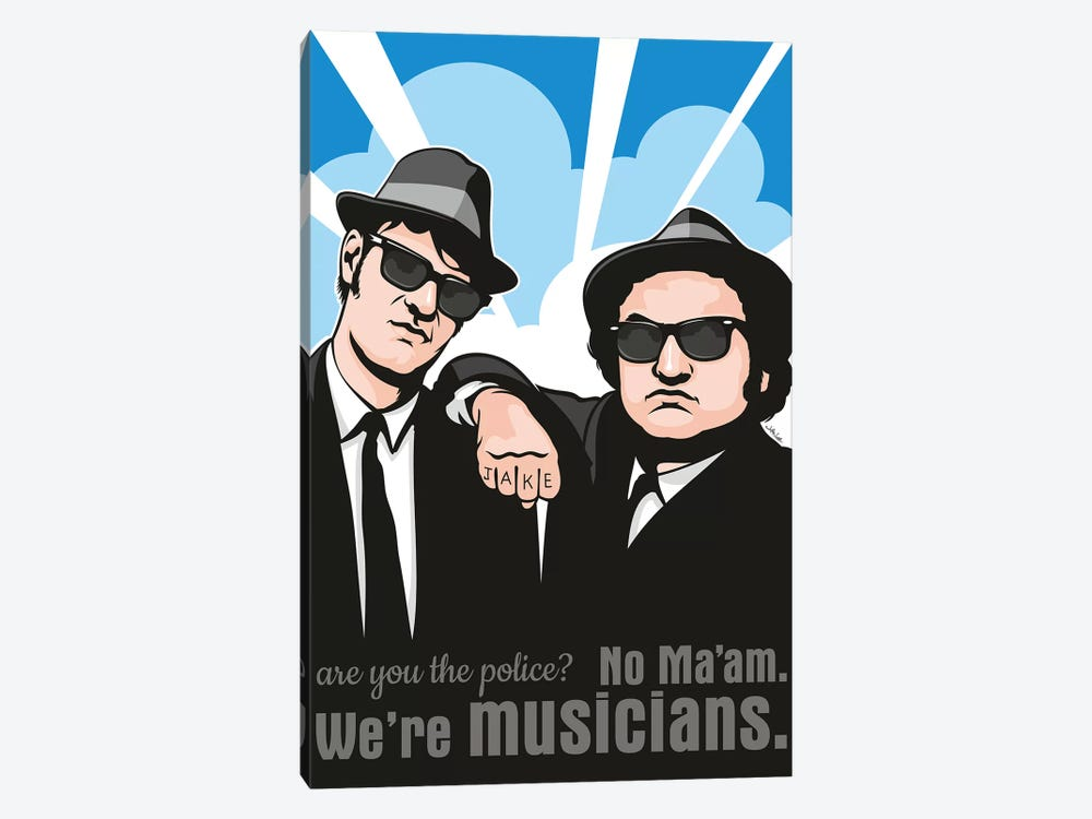 No Maam, We're Musicians by James Lee 1-piece Canvas Print
