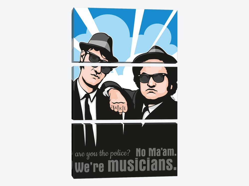 No Maam, We're Musicians 3-piece Canvas Print