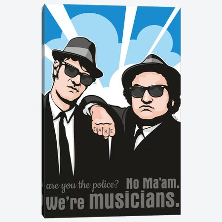 No Maam, We're Musicians 3-Piece Canvas #JLE83} by James Lee Art Print