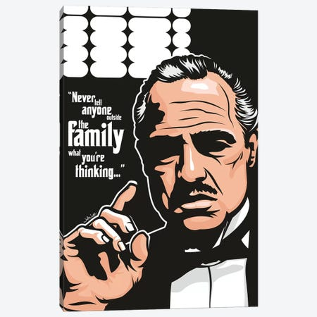 Vito Corleone Canvas Print #JLE85} by James Lee Canvas Art
