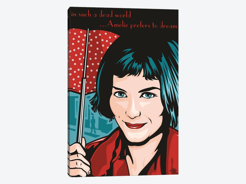 Amelie Poulain by James Lee 1-piece Canvas Wall Art