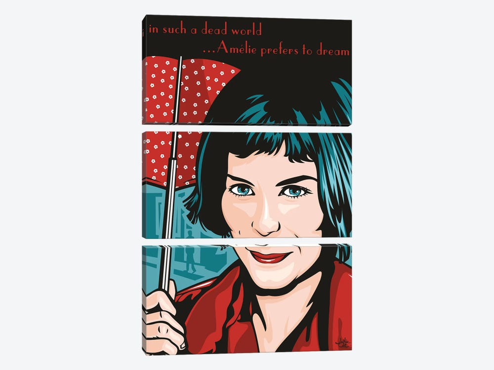 Amelie Poulain by James Lee 3-piece Canvas Art