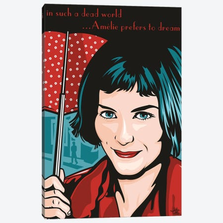 Amelie Poulain 3-Piece Canvas #JLE88} by James Lee Canvas Print