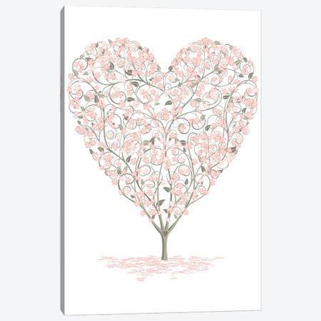 Blossoming Love Canvas Print #JLE89} by James Lee Canvas Art Print