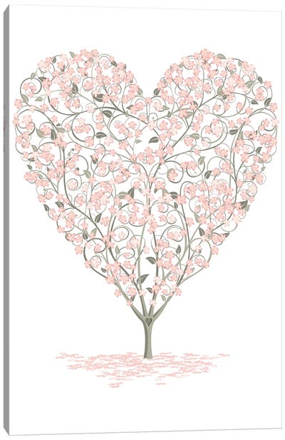 Blossoming Love Canvas Art Print