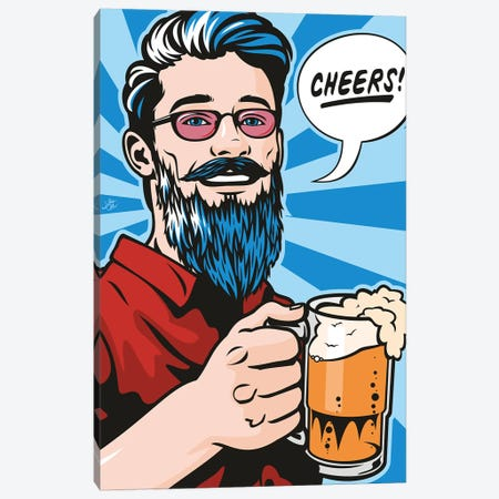 Cheers! Canvas Print #JLE91} by James Lee Canvas Artwork