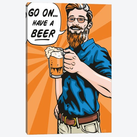 Have A Beer! 3-Piece Canvas #JLE92} by James Lee Canvas Artwork