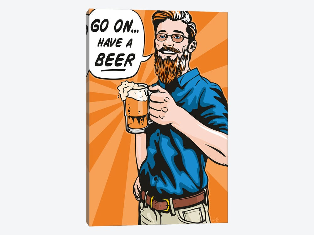 Have A Beer! by James Lee 1-piece Art Print