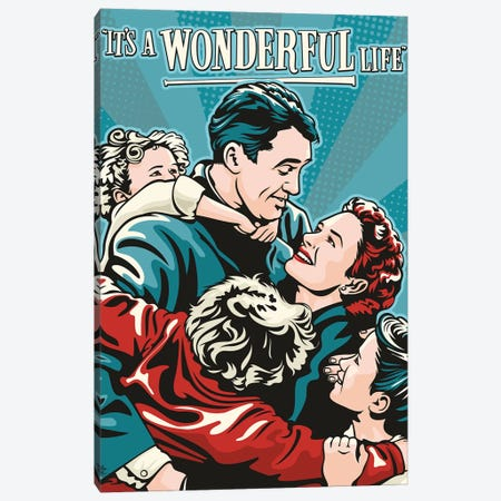 It's A Wonderful Life Canvas Print #JLE96} by James Lee Canvas Art Print