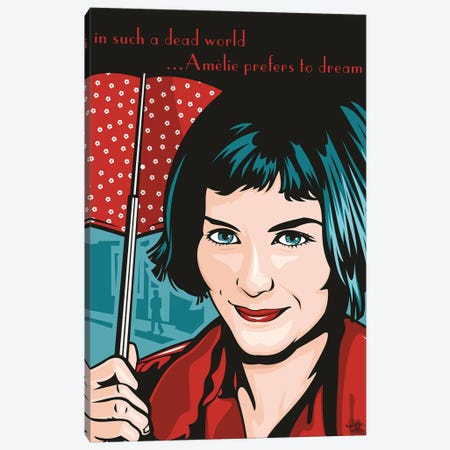 Amelie Poulain Canvas Print #JLE97} by James Lee Canvas Print
