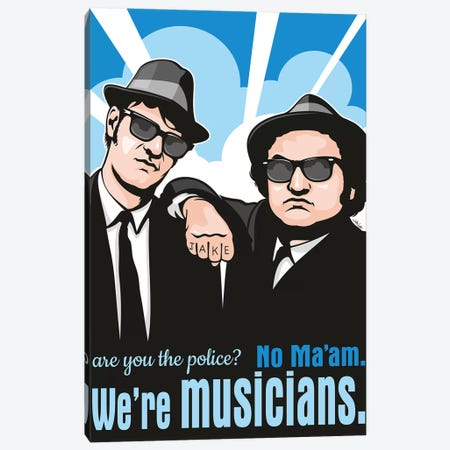 No Ma'am, We're Musicians. Canvas Print #JLE98} by James Lee Canvas Artwork