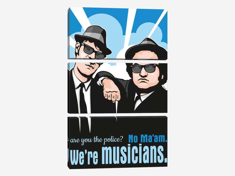 No Ma'am, We're Musicians. by James Lee 3-piece Art Print