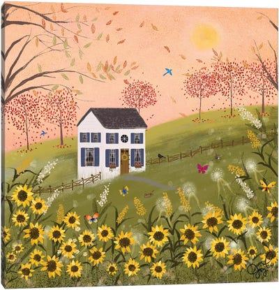 Autumn Pink Sky Canvas Art Print
