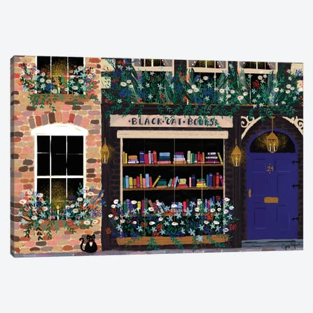 Book Shop Front Canvas Print #JLF13} by Joy Laforme Art Print