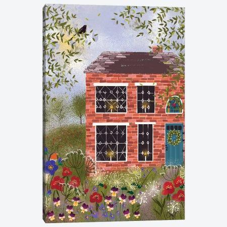 Brick Cottage Canvas Print #JLF14} by Joy Laforme Canvas Wall Art