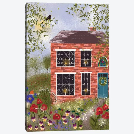 Brick Cottage Canvas Print #JLF14} by Joy Laforme Canvas Wall Art