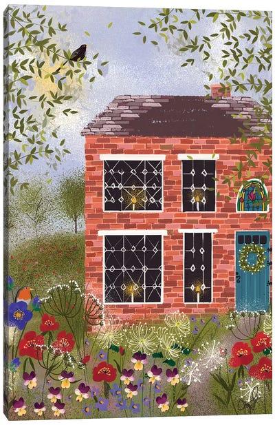 Brick Cottage Canvas Art Print
