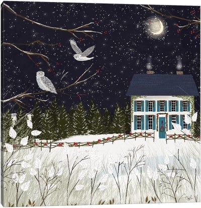 Christmas Colonial Canvas Art Print