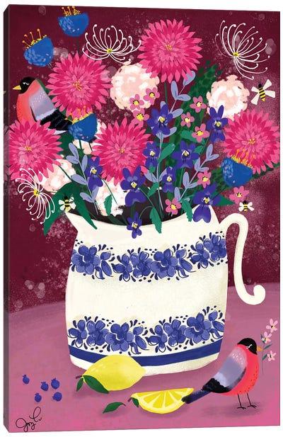 Dahlias Canvas Art Print