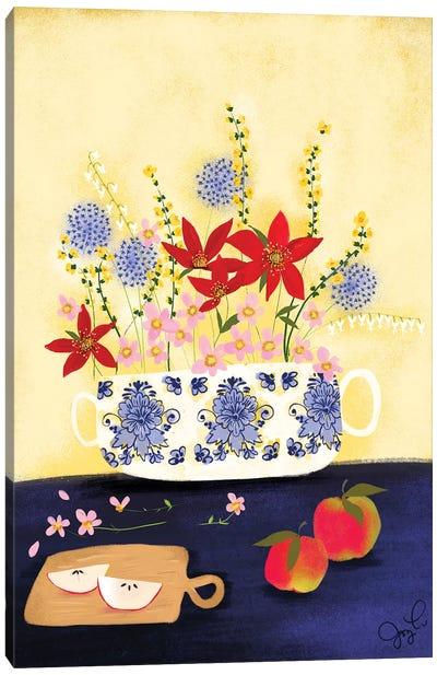 Delft Wildflowers I Canvas Art Print