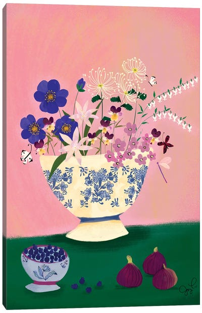 Delft Wildflowers II Canvas Art Print