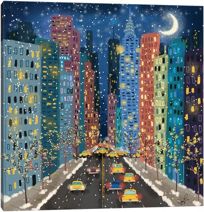 42nd Street Canvas Art Print