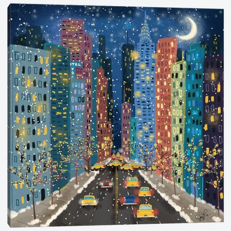 42nd Street Canvas Print #JLF1} by Joy Laforme Art Print