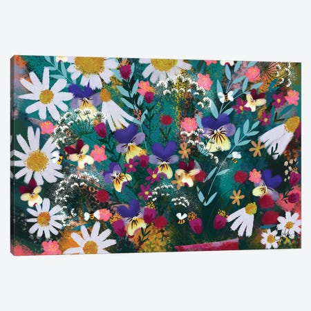 Floral Explosion Canvas Print #JLF21} by Joy Laforme Canvas Wall Art