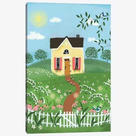 Folk Art Fusion I Canvas Print #JLF22} by Joy Laforme Canvas Wall Art