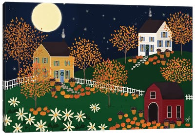 Folk Art Fusion VI Canvas Art Print